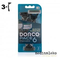 Dorco - Moški brivnik za večkratno uporabo / 6 rezil - 3 kos
