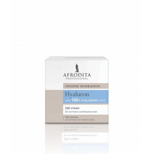 Afrodita Professional - HYALURON 24H CREAM za normalno - mešano kožo