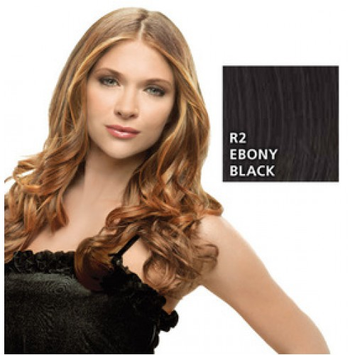 Hairdo by HairUwear - Kodrasti clip-in podaljški - R2 ebony black 57 cm