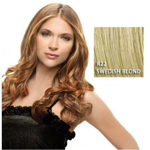 Hairdo by HairUwear - Kodrasti clip-in podaljški - R22 swedish blond 57 cm