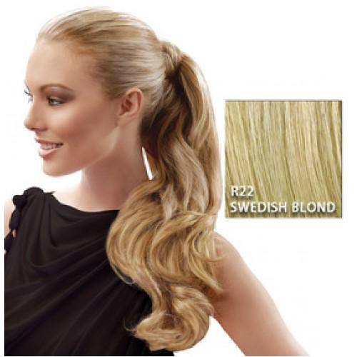 Hairdo by HairUwear - Kodrasti čop Wrap around pony - R22 swedish blond 57 cm