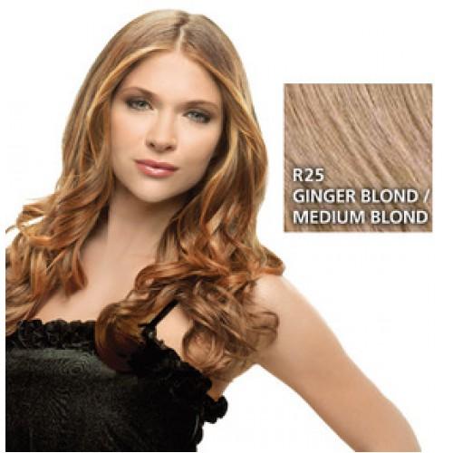 Hairdo by HairUwear - Kodrasti clip-in podaljški - R25 ginger blond/medium blond 57 cm