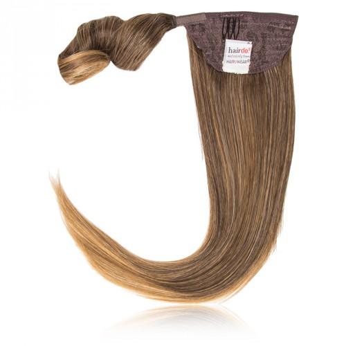 Hairdo by HairUwear - Raven čop Simply straight pony - R1416T buttered toast/dark blond 45 cm